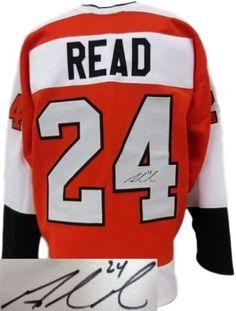 Matt Read Flyers Signed Autographed Orange Custom Hockey Jersey SI - Sports Integrity