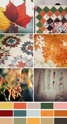 colour palette : patchwork leaves... by emma lamb, via Flickr