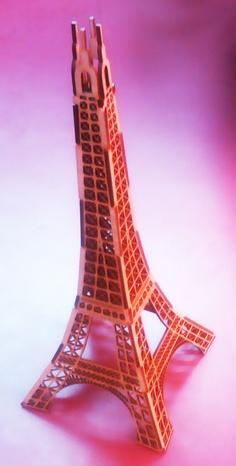 Laser Cut Eiffel tower - made by Spirit 20watt by GCC pro on 1.5mm Pine MDF