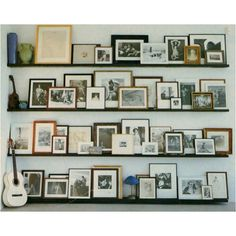 Ideas For Kitchen Wall Display Ideas Picture Ledge Picture Shelves, Picture Wall, Picture Frames, Photo Wall, Ikea Picture Ledge, Cadre Photo Multiple, Diy Wand, Creation Deco, Photo Displays