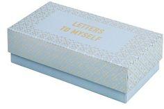 k Letters To Myself Box - Blue Kikki K, Decorative Boxes, Container, Letters, Blue, Home Decor, Decoration Home, Room Decor, Lettering