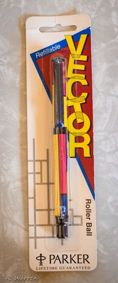 Vintage Parker Pen Vector Geometric Colorful Squares New in Package NOS 80's | eBay