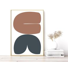 This modern wall decor makes the perfect addition to your mid century modern wall art. Simple lines and shapes of this Scandinavian art style modern wall poster catch your eye and make a striking centerpiece or addition to your gallery wall. The striking colors and abstract shapes of this oversized Wall Art Sets, Large Wall Art, Wall Art Prints, Geometric Wall Art, Colorful Wall Art, Scandinavian Art, Modern Wall Decor, Modern Boho, Minimalist Decor
