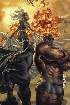 Storm, Thing, Human Torch, Black Panther