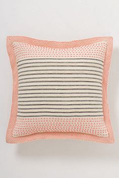 I could probably do this on my own!  Stitch-Striped Pillow #anthropologie in peach and navy