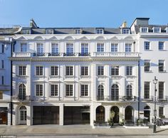 Grandeur: The substantial apartment occupies the first floor of this dramatic Edwardian pr...