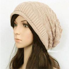 Womens Urban Design Knit Pattern Beanie