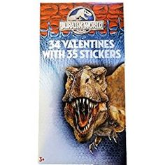 Dinosaur Valentines Cards for Kids Toddlers -- 27 Dinosaur Valentine Cards with Bonus Jurassic World Stickers (Boxed School Classroom Pack) Dinosaur Valentines, Valentines For Kids, Classroom Valentine Cards, Valentine Day Cards, Valentine's Cards For Kids, Paper Magic, Cursed Child Book, Jurassic World, Grumpy Cat