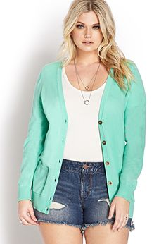 Want this cardigan!  Cozy Longline V-Neck Cardigan | FOREVER21 PLUS - 2000073285