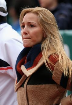 Jelena Ristic Photos Photos - Novak Djokovic's girlfriend Jelena Ristic keeps warm as she watches her boyfriend  against Fabio Fognini of Italy in their semi final match during day seven of the ATP Monte Carlo Masters,at Monte-Carlo Sporting Club  on April 20, 2013 in Monte-Carlo, Monaco. - ATP Masters Series Monte Carlo - Day Seven
