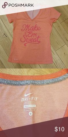Nike Dri-fit workout t-shirt Gently used. Great condition. Nike Dri-fit t-shirt. Smoke and pet free home. Nike Tops Tees - Short Sleeve