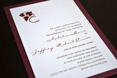 Winery Wedding Invitation by imaginationpad on Etsy, $187.50