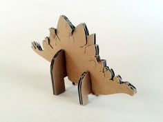 kartonowe dinozaury - 2- 4; #toys #cardboard #animal #zkartonu