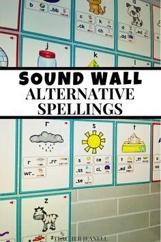 Sound Wall, Kindergarten Teachers, Word Work, Poster Wall, Phonics, Spelling, Literacy, Alternative, Teaching
