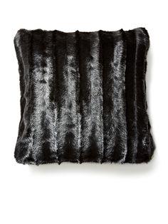 Signature Faux Fur Pillow