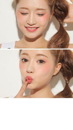 Powdery Lip & Cheek will brighten up your skin! Grab at #eyecandys with LOVE! #kawaii #cosmetics