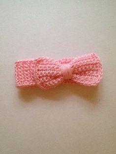 Crochet baby earwarmer. Ugh I love crochet