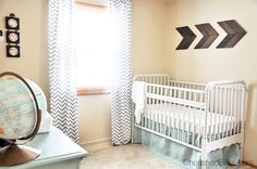 A precious Vintage Travel Themed Nursery. Such a beautiful room!