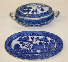 Japan BLUE WILLOW China Childs Casserole with by StraitsAntiques, $85.00