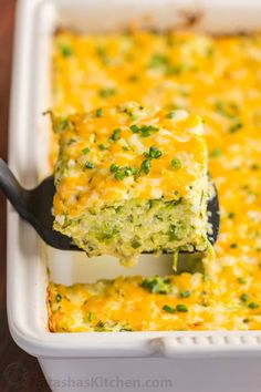 A golden cheesy crust seals in the fluffy, moist and creamy center of this zucchini casserole. An easy and irresistibly delicious zucchini casserole recipe.