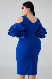 Fun Flare Body-Con Dress at Diyanu Short African Dresses, Ankara Short Gown Styles, Lace Dress Styles, Latest African Fashion Dresses, African Print Fashion, African Blouses, Classy Work Outfits, Classy Dress, Blue Plus Size Dresses
