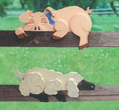 Pig & Lamb Rail Pets Pattern