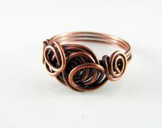 Filo avvolto anello filo di rame avvolto gioielli di PolymerPlayin
