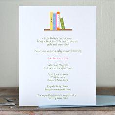 Baby Shower Invitations . Baby Shower Invites . Book Baby Shower Invitations - Bring a Book. $18.00, via Etsy.
