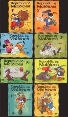 Disney Cartoons on Postage Stamps, Stamp News Publishing