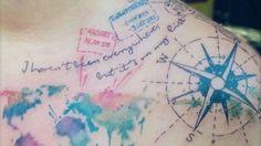 Beautiful travel tattoos as seen on Instagram.