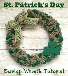 St Patricks Burlap Wreath Tutorial