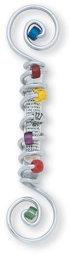 Double Spiral Mezuzah w/ Shin by Jillery | Sticks Furniture, Home Decorative Accents