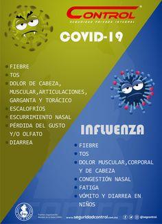 Compartimos las diferencias entre #Covid-19 e #influenza. Para que sepas disntiguir una de otra ante esta pandemia. #Salud #VidaSana #Seguridad #Diferencias