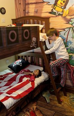 pirate bunk-bed. I have a strong feeling Jake will want to have a pirate bedroom one day.