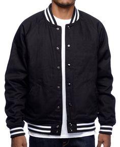 http://www.quickapparels.com/flipped-black-varsity-jacket.html