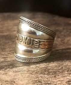 Tibetan amulet ring -  vintage brass - adjustable ring - yoga rubg - ethnic jewelry by Omanie on Etsy https://www.etsy.com/listing/515836847/tibetan-amulet-ring-vintage-brass