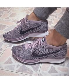 Nike Flyknit Racer Trainers In Lavender f1f14e48b9e6