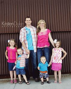 Family Picture Clothes by Color-Pink - Capturing Joy with Kristen Duke