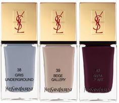 YSL AW13 nail polishes