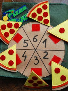 Pepperoni Pizza counting felt project *Perfect for counting prop box for daycare