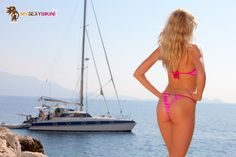 Baléares Fuchsia. L'un des nombreux #maillotdebain et #bikini #string proposés par my-sexy-bikini.com