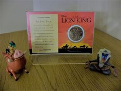 #Disney the lion king commemorative coin 1995 & timon, #pumbaa & rafiki #figures,  View more on the LINK: http://www.zeppy.io/product/gb/2/182362872684/