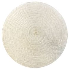 MICA PP PLACEMAT PEARL 15 RD | At Home Outdoor Tables, At Home Store, Table Linens, Placemat, Pearls, Rugs, Home Decor, Tablecloths, Farmhouse Rugs