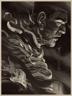 THE MUMMY (VARIANT) Nicolas Delort  Sérigraphie Edition limitée de 15 exemplaires Format: 45,7  x 61cm Epreuve d'artiste signée & numérotée par Nicolas Delort
