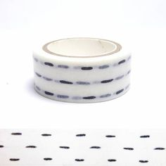 Dash lines washi tape Washi Tapes, Masking Tape, Stationary Supplies, Art Supplies, Tapas, Decorative Tape, Paper Tape, Ribbon Crafts, Pretty Cards