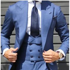 Mens Double Breasted Vest Custom Made Groom Skinny Tuxedo Wedding Business Suits Slim Fit Tuxedo, Slim Fit Suits, Tuxedo For Men, Tuxedo Suit, Three Piece Suit, 3 Piece Suits, Formal Prom Suits, Prom Suit Jackets, Double Breasted Vest