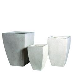 Donica ogrodowa ceramiczna 35X35X51, Miloo Home - Wyposażenie wnętrz