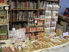 Craft Show Display: metal magnets to hold products up