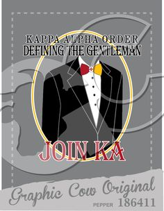 Defining the Gentleman tuxedo Kappa Alpha rush #grafcow