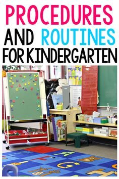Kindergarten Classroom Routines and Procedures You MUST Teach